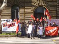 La mobilitazione dei lavoratori delle aziende delle telecomunicazioni VODAFONE-COMDATA, ALMAVIVA-ATESIA, TELEPERFORMANCE