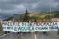 20 novembre manifestazione di protesta a L'Aquila